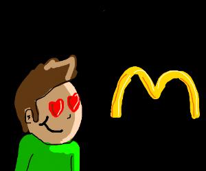 A guy loves McDonalds