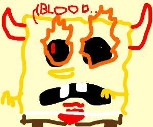 demonic spongebob