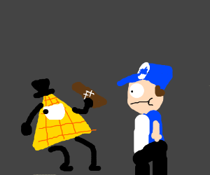 Bill cipher drinking with dipper bildip fanart