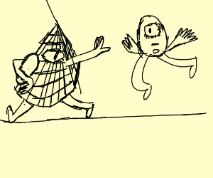 Illumanati plays rugby with cyclops