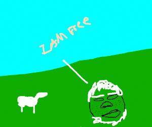 Morgan Freeman becomes a typical British farme