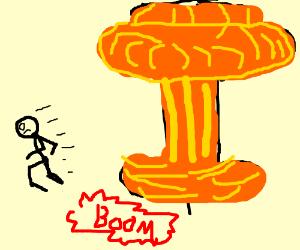 Escaping frpm explosion