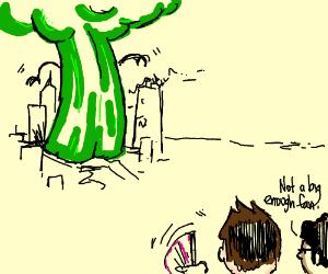 Giant broccoli? Yer gonna need a bigger fan.