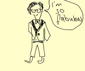 Fabulous man wearin' glasses and a tuxedo