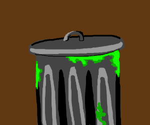 A trash can/me irl