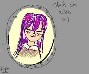 Alien anime girl