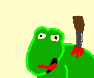 Stabbing a frog
