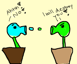 Plants vs Zombies but its Plants vs Plants