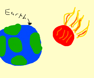 OH GOD A FLAMING METEOR SPEEDING TOWARDS EARTH