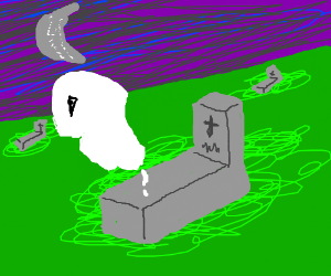 Ghost rises from the grave