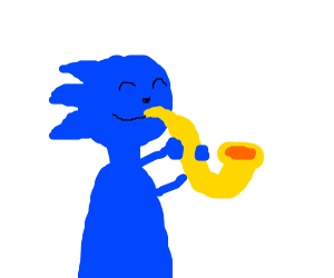 Sonic Playing the Saxophone