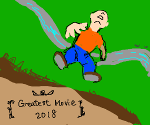 Guy falling off a cliff: The Movie