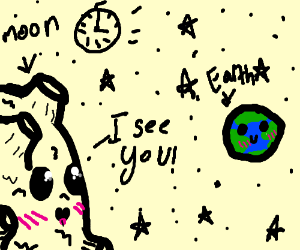 seeing eart through space time in space