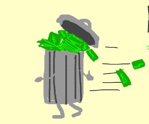 Living rich trashcan