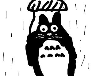Totoro under umbrella