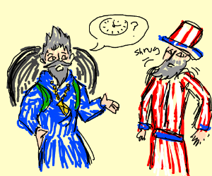Father Time Asks USA stuff (not Canada)