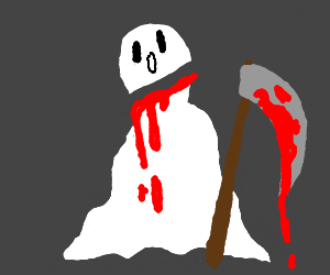 Ghost cuts his head with scythe