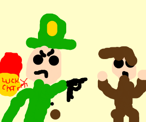 lucky charms guy threatens you with gun