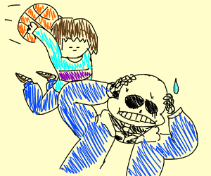 sans just got dunked on
