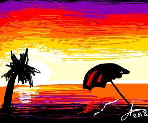 sunest on the beach
