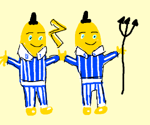 Bananas in pajamas harness the power of god