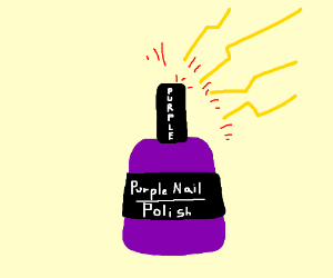 Zap from the purple nail polish