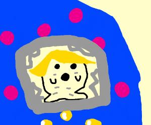 Blonde tamagochi