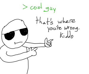 cool guy with shades
