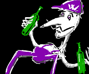 Waluigi gets drunk