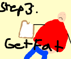 step 2- Eat bread