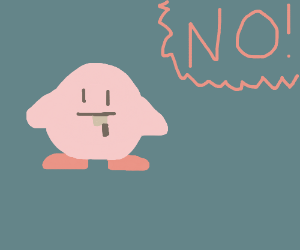 No Kirby! Knives are not for eating!