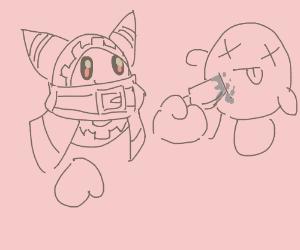 Magolor kills Kirby