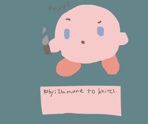 kirby gets stabbed