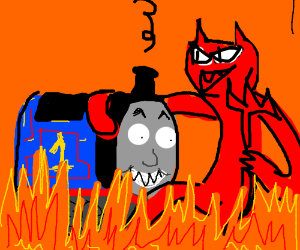 Thomas the Tank Engine makes a deal with Satan