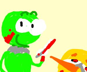 Kermit murdered Big Bird