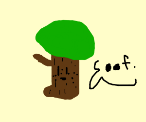 Tree with freckles going OOF