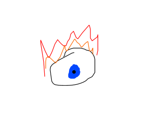 Flaming eye stares into your soul