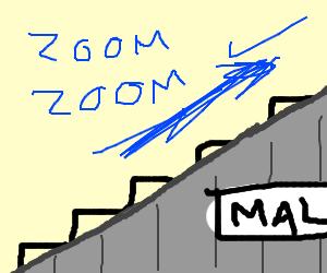 the escalator rose quickly