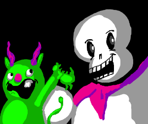 Papyrus and monster kid