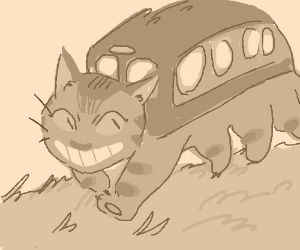 the cat bus from totoro