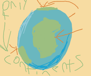 The Earth has four continents.