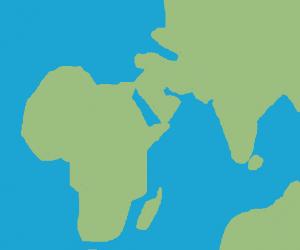 Africa, Asia and Australia