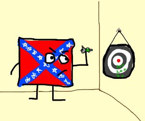 redneck emoticon throwing darts