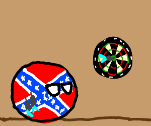 Confederate States of America is throwing dart