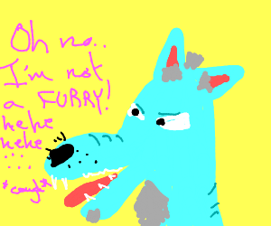 Obvious furry denies being a furry
