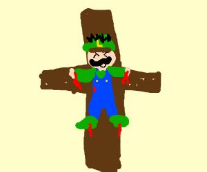 luigi nailed to the cross