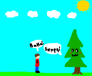 Guy is angry at cute tree