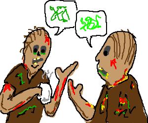 Zombies conversing
