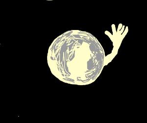 Moon Moon waving