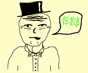 Old businessman